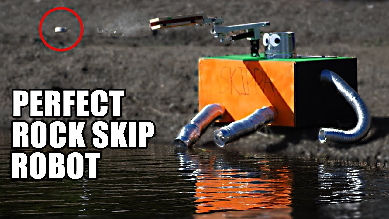 Rock Skip Robot The Science Of Perfect Rock Skipping