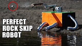 Rock Skip Robot- The SCIENCE of PERFECT ROCK SKIPPING thumbnail