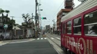 電車追走  阪堺電気軌道上町線  旧熊野街道