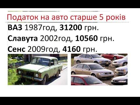 Смотреть Налог на старые автомобили в Украине (Законопроект 2018) онлайн