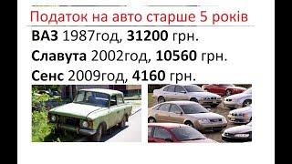Налог на старые автомобили в Украине (Законопроект 2018)