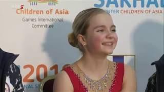 Дети Азии Фигурное катание Одиночное катание девушки Первая часть