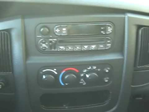 How To Dodge Ram Pick Up Car Stereo Radio Cd Tape Removal