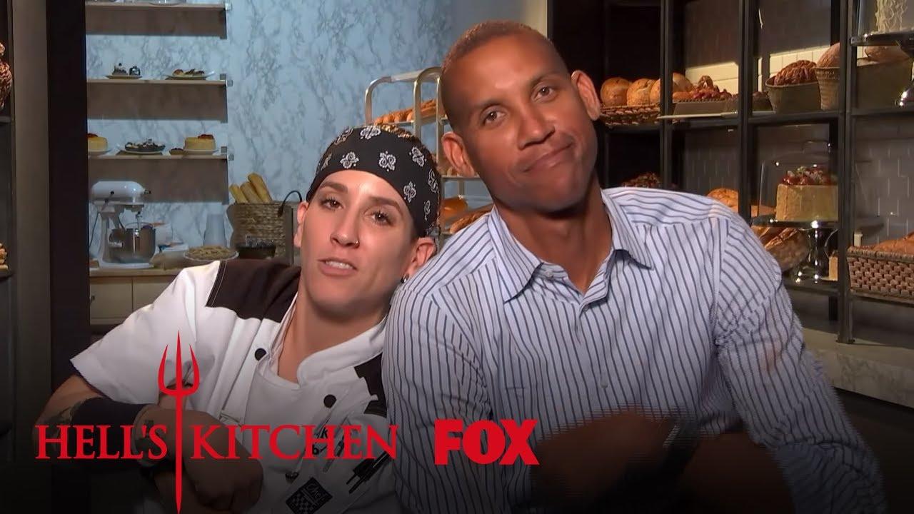Robyn Reggie Miller Have Fun In The Kitchen Season 17 Ep 13 Hell S Kitchen All Stars