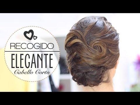 Recogido Elegante De Novia Para Cabello Corto Paso A Paso Youtube
