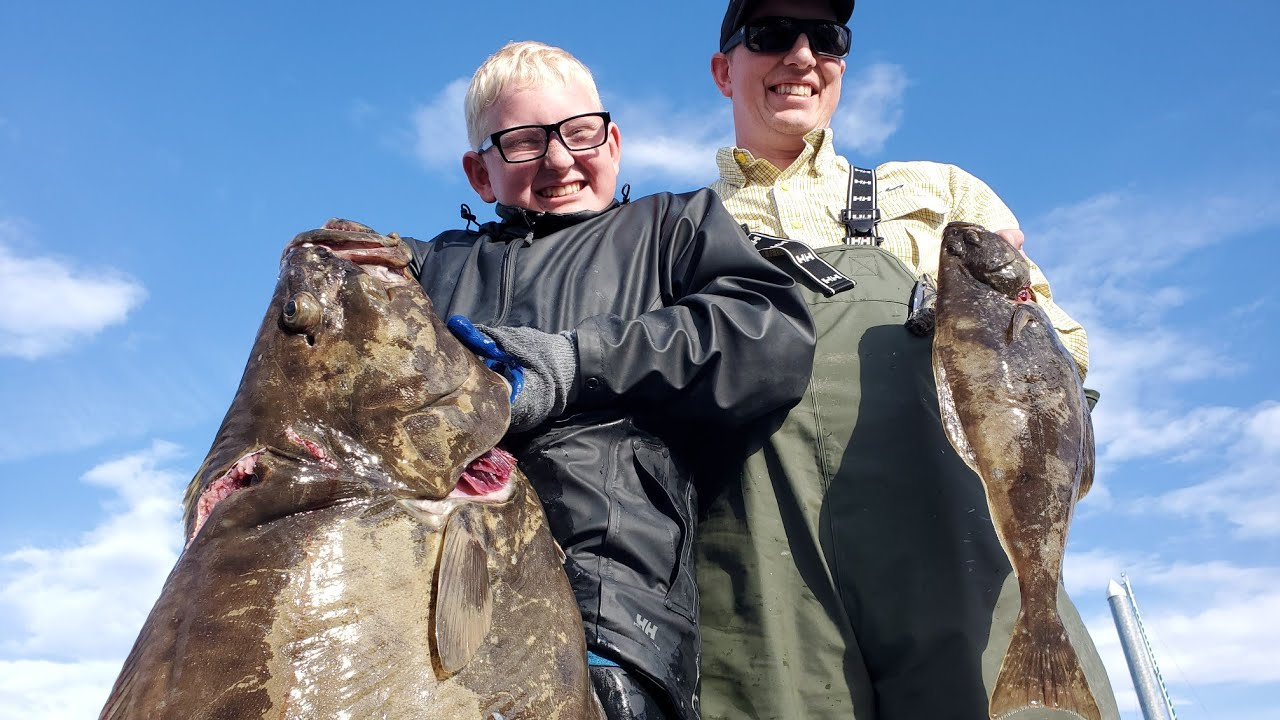 Halibut Catch & Cook - Catching Halibut with Light Tackle (+1,000,000 flounders!)