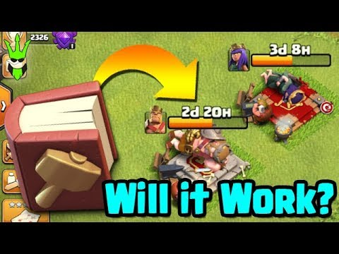 DOES BOOK OF BUILDING WORK ON HEROES? - Clan Games Rewards & Goblin Farming - Clash of Clans