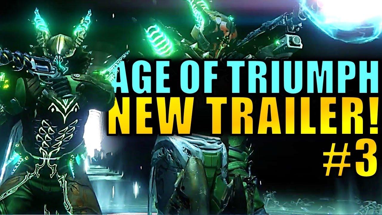 destiny: new trailer for new raid gear in age of triumph! - youtube