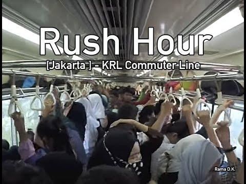 [Jakarta] Kereta Api Commuter Line Jabodetabek Ketika Jam Sibuk