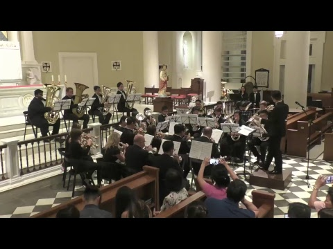 A Christmas concert at the Cathedral of the Good Shepherd by the Lion City Brass Band