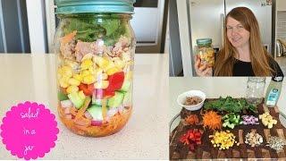 Salad In A Jar Recipe - Super Healthy Lunch Idea