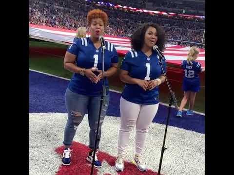 Mary Mary Singing The National Anthem