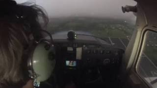 Extreme MVFR approach into KLAL RWY 09
