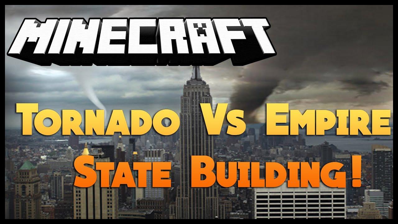 Minecraft Tornado Vs Empire State Building YouTube - Nyc map empire state building