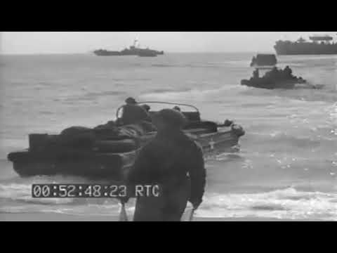 World War II Footage – Loading Casualties on USN Landing Ship