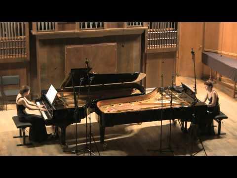 Brahms Sonata f-moll for two pianos - Anastasia & Lubov Gromoglasova