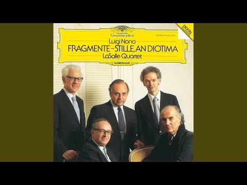Nono: Fragments - Stillness, For Diotima - For String Quartet - Ricordi-Edition - Conclusion