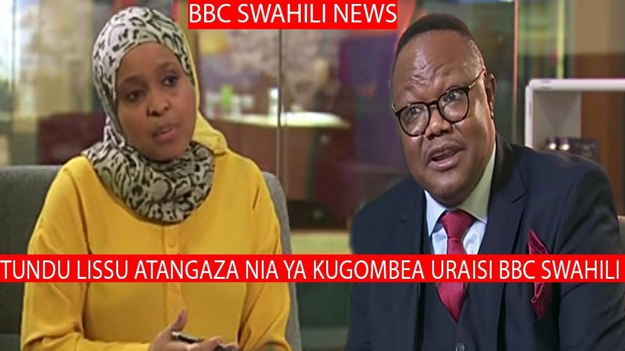 Tundu Lisu Atangaza Nia Ya Kugombea Uraisi Bbc Swahili Aongea Mazito