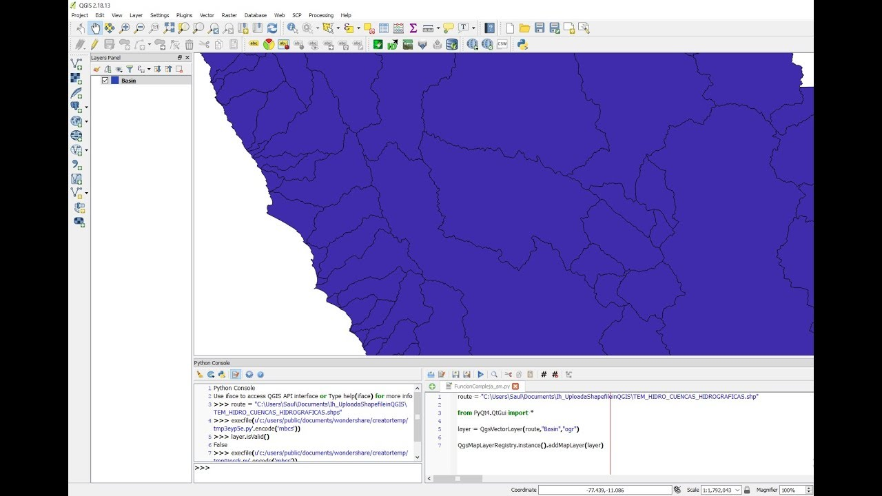 How to Upload a Shapefile in QGIS with PyQGIS - Tutorial