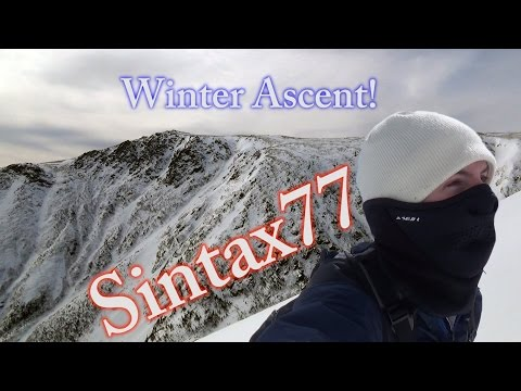 Mt Washington Winter Ascent - Backpacking in Huntington Ravi