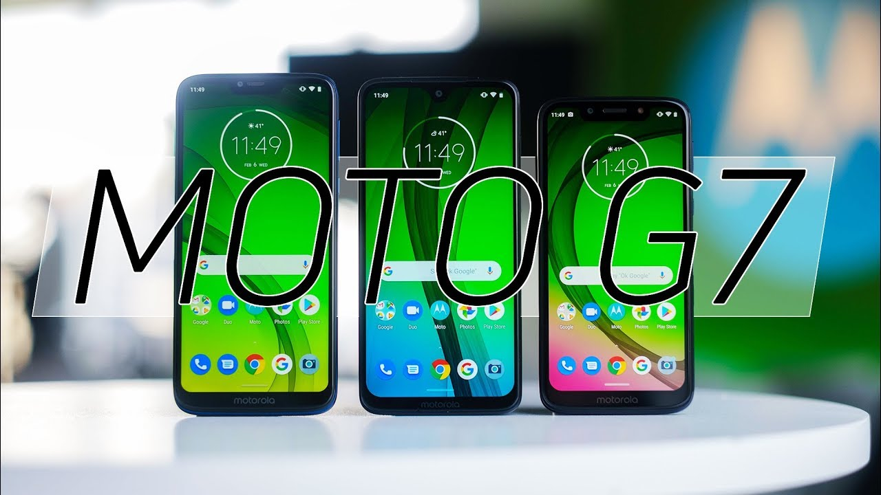 Motorola Moto G7, Moto G7 Play, and Moto G7 Power specs