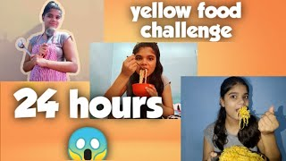 I only ate Yellow food for 24 hours | #yummy 😋