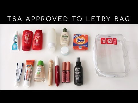 How to Pack Toiletries, Makeup and Meds in a Carry-On Luggage