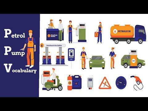 Petrol And Gas Station Vocabulary  | Petrol Pump items