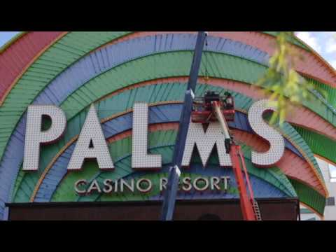Palms Las Vegas casino updates its sign