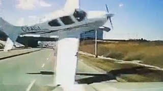 Plane Almost Hits Car
