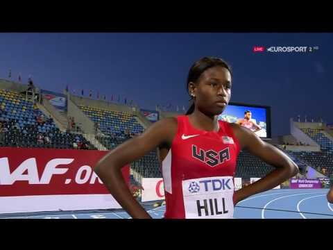 Candace Hill 11 07 CR 100m FINAL Women's World U20 Championships Bydgoszcz 2016 HD   YouTube