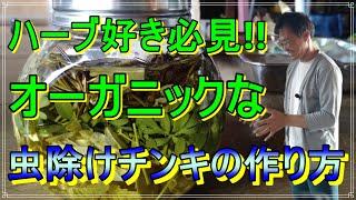 [ハーブ] 虫除けチンキの作り方「ハーブコーディネーターが収穫から教える虫除けチンキの作り方」