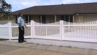 Pvc Picket Fence With Raked Gate And Panels