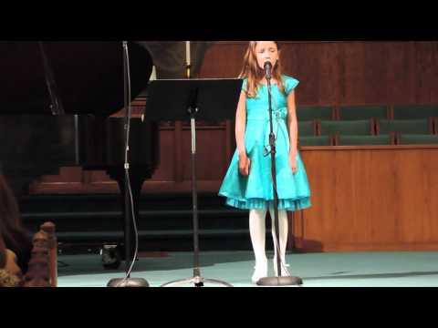 Isabella sings