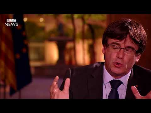 Carles Puigdemont speaks exclusively to the BBC