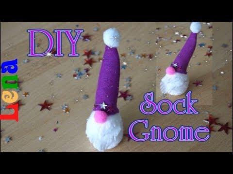 socken-wichtel-basteln-mit-filz---sock-gnome-diy---felt-craft---Гном-из-носка-без-шитья
