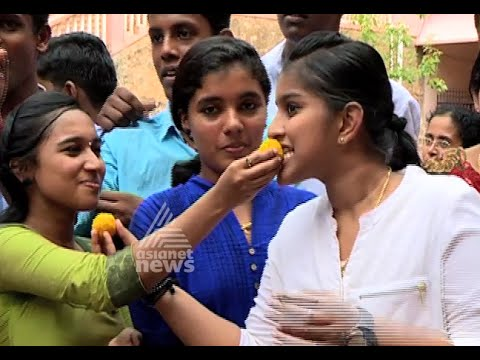 Celebration after SSLC result announcement at Pattom St.Mary