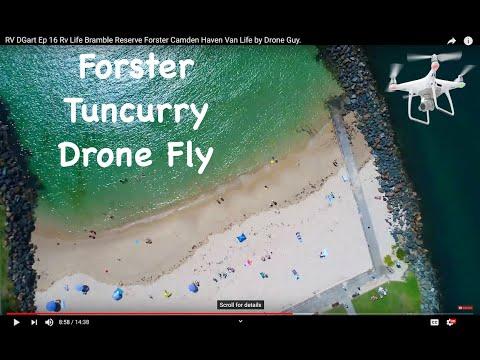 Australian Drone Road Trip Ep 16 Bramble Reserve Forster Camden Haven Overland Van life Adventure. - camden-haven