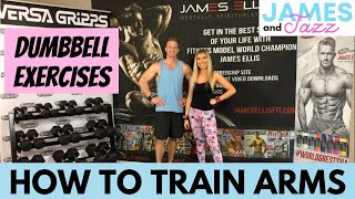 How To Train Full Arms || Dumbbell Exercises || Exercise Demonstrations || Biceps || Triceps