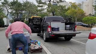 코란도스포츠  매니아트립 가성비최강 캠핑 차박  세미 …