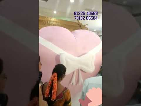Heart Balloon Blast Entry New Concept Wedding Marriage Reception Event +91 81225 40589 (WA)