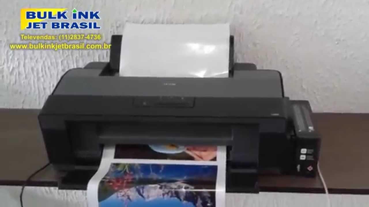 Mini Plotter Eco Solvente A3 Epson L1300 Convertida Imprimindo Lona