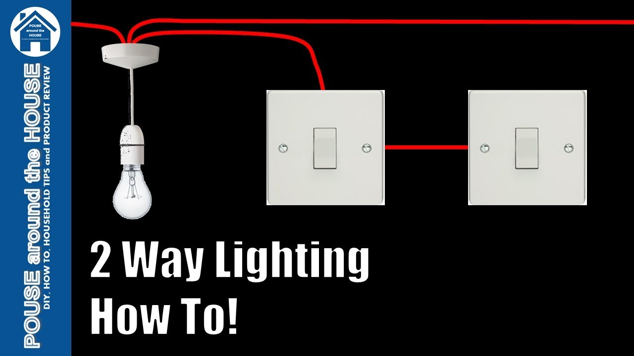 How To Wire A 2 Way Light Switch Lighting Explained Home Electrical Wiring Dimmer Tutorial Pouse Around The House