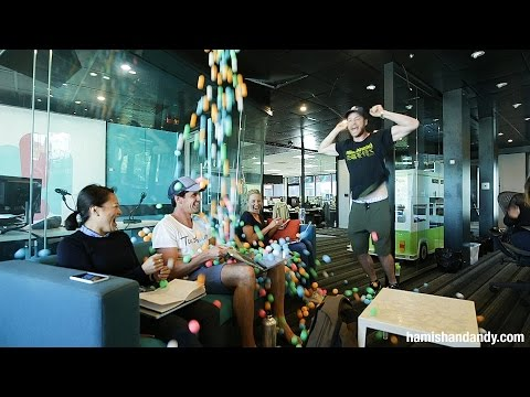 Concluding 'Hamish's Year of a Thousand Pranks' | 950 Ping Pong Balls!