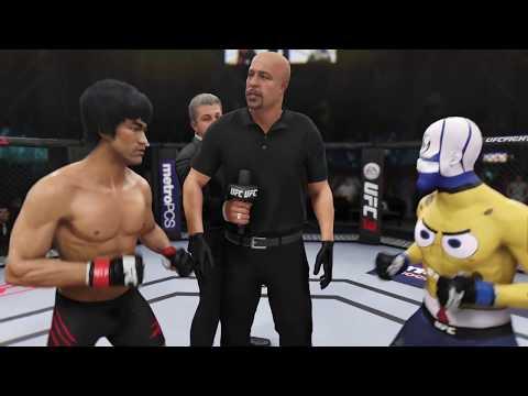 Bruce Lee vs. SpongeBob (EA Sport UFC 3) - CPU vs. CPU