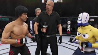 Bruce Lee vs. SpongeBob EA Sport UFC 3   CPU vs. CPU