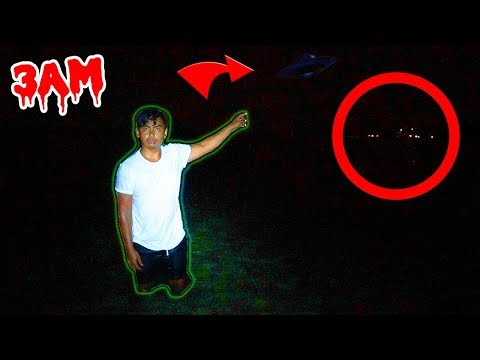 Thumbnail: DO NOT HUNT ALIENS AT 3AM! (Creepy Lights Spotted)