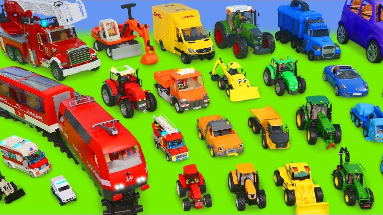 Koparki, Koparka, Ciągnik,  ciężarówka zabawki, dźwig Bagrownica - Excavator Toys for kids