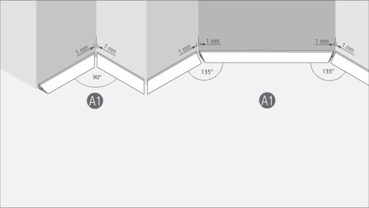 Wandanschlussprofil Rauwalon Perfect Line Youtube