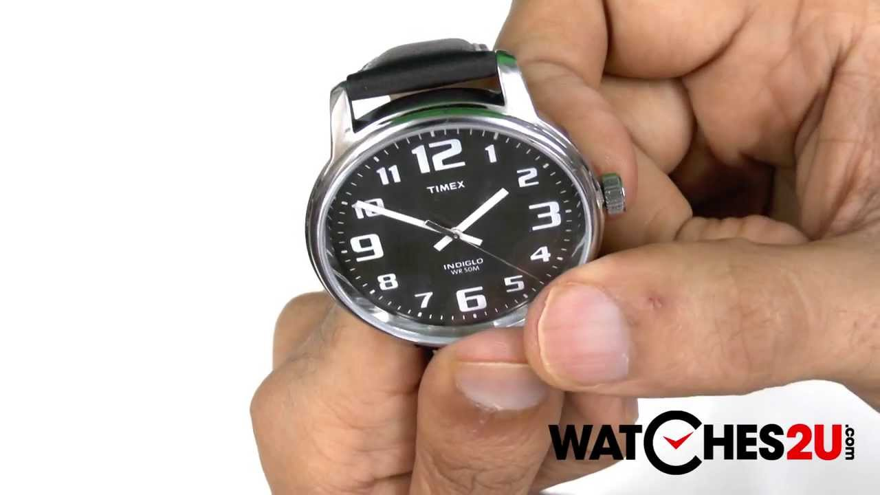 96523e6ec0017 Timex Mens Black Easy Reader Watch T28071 - YouTube
